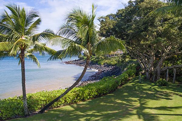 Beach Access at 22 Wa'a Place in Kuau, Maui